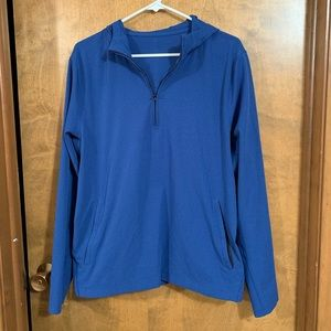 Lululemon Blue 1/2 Zip Hoodie